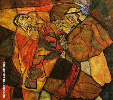 Agony 1912 By Egon Schiele Replica Paintings on Canvas - Reproduction Gallery