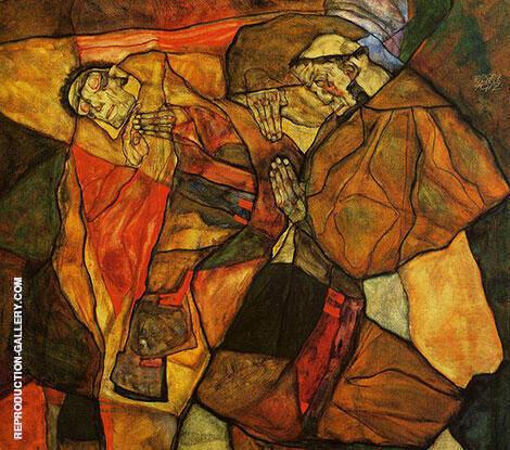 Agony 1912 By Egon Schiele