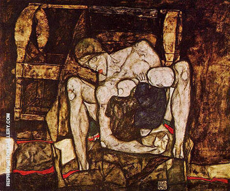Blind Mother 1914 By Egon Schiele - Oil Paintings & Art Reproductions - Reproduction Gallery
