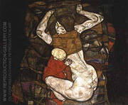 Young Mother 1914 By Egon Schiele
