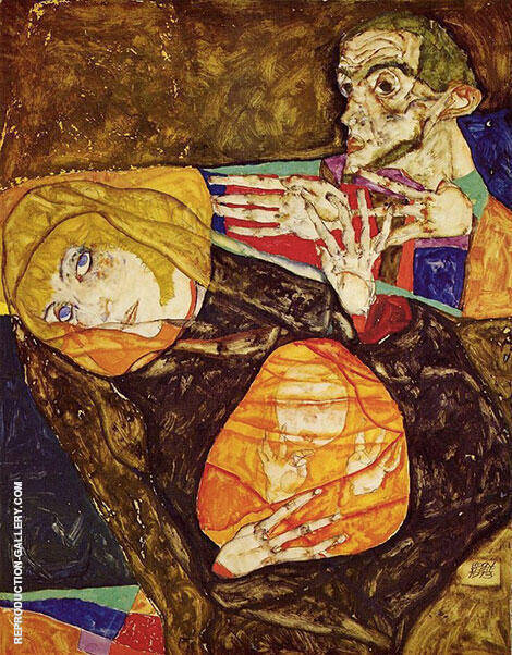Holy Family 1913 By Egon Schiele - Oil Paintings & Art Reproductions - Reproduction Gallery