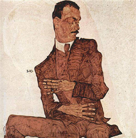 Portrait of Arthur Roessler 1910 Painting By Egon Schiele