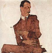 Portrait of Arthur Roessler 1910 By Egon Schiele