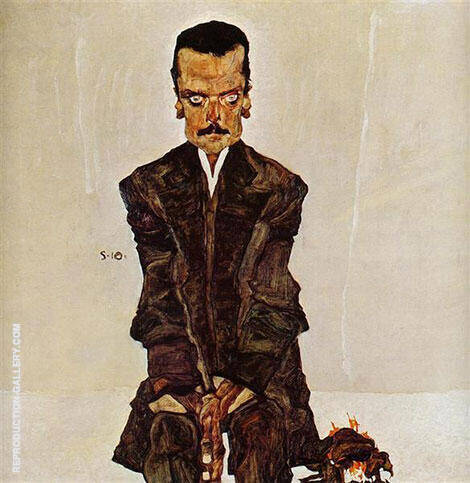 Portrait of the Publisher Eduard Kosmack 1910 By Egon Schiele - Oil Paintings & Art Reproductions - Reproduction Gallery