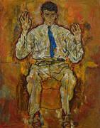 Portrait of the Painter Paris von Gutersloh 1918 By Egon Schiele