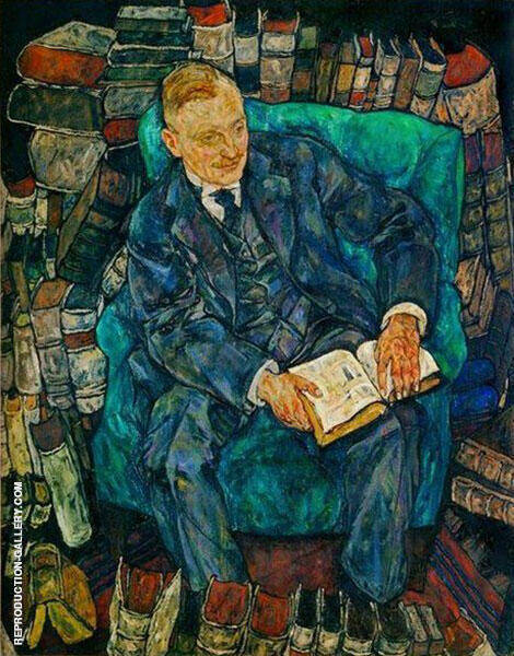 Portrait of Dr. Hugo Koller 1918 By Egon Schiele - Oil Paintings & Art Reproductions - Reproduction Gallery
