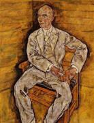 Portrait of Victor Ritter von Bauer 1918 By Egon Schiele