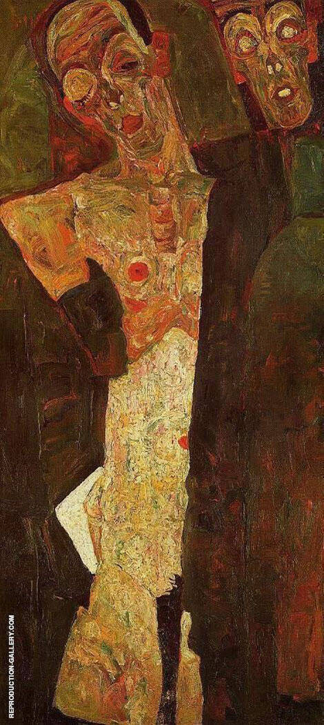 Prophets (Double Self-Portrait) 1911 Painting By Egon Schiele