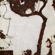 Autumn Tee with Fuchsias 1909 By Egon Schiele