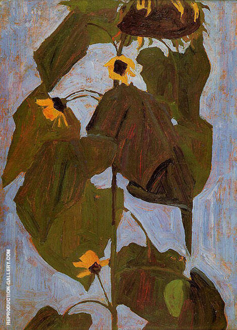 Sunflower I 1908 By Egon Schiele