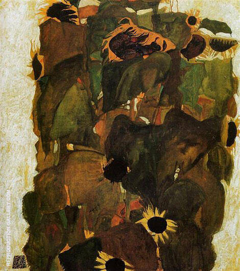 Sunflower 1911 By Egon Schiele