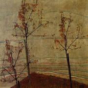 Autumn Trees 1911 By Egon Schiele