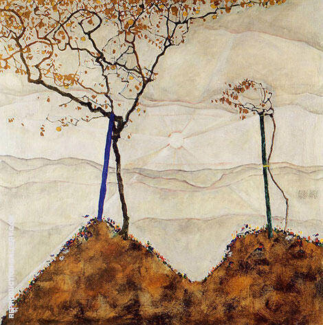 Autumn Sun I (Sunrise) 1912 By Egon Schiele