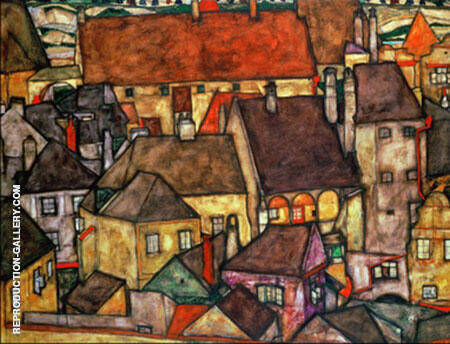 Yellow City 1914 By Egon Schiele