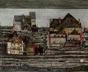 Suburb I 1914 By Egon Schiele