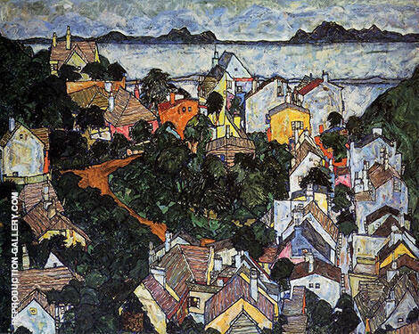 Summer Landscape 1917 By Egon Schiele - Oil Paintings & Art Reproductions - Reproduction Gallery