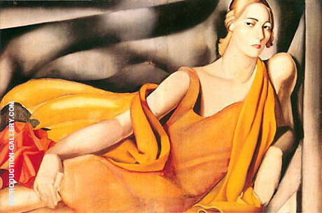 Reproduction of Lady in Yellow by Tamara de Lempicka | Oil Painting Replica On CanvasReproduction Gallery