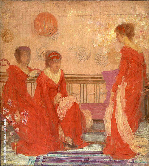 Harmony in Flesh Color and Red 1869 Painting By James McNeill Whistler