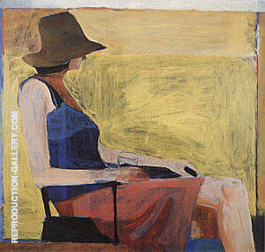 Reproduction of Seated Figure with Hat, 1967 by Richard Diebenkorn | Oil Painting Replica On CanvasReproduction Gallery