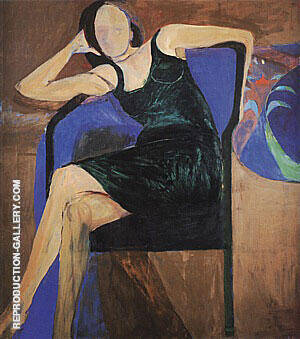 Seated Woman, 1967 By Richard Diebenkorn Replica Paintings on Canvas - Reproduction Gallery