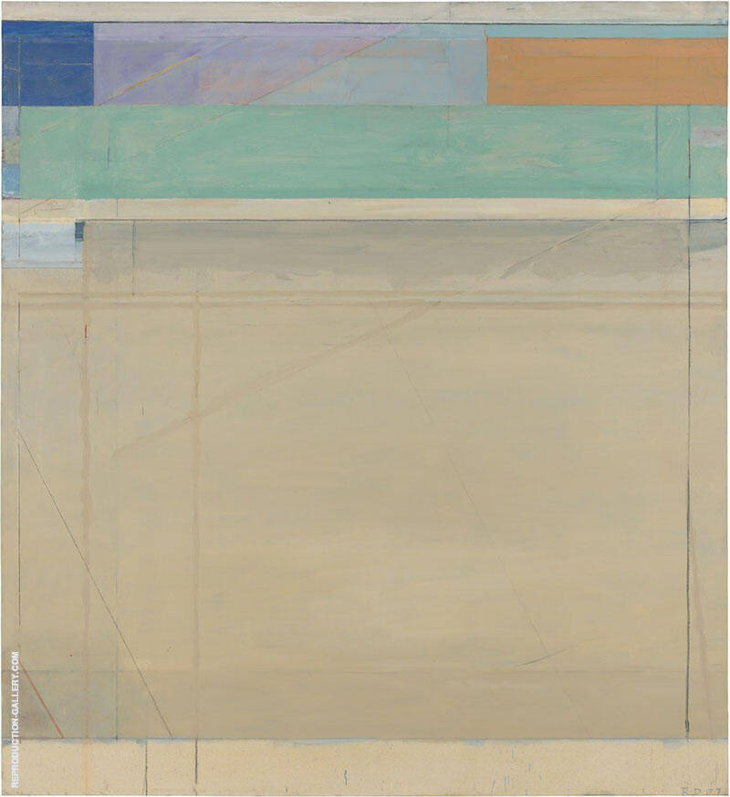 Ocean Park No.96, 1977 Painting By Richard Diebenkorn