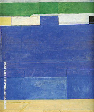 Ocean Park No.128, 1984 By Richard Diebenkorn Replica Paintings on Canvas - Reproduction Gallery