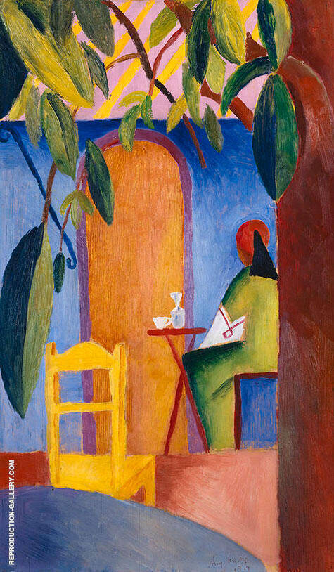 Turkish Cafe 2 By August Macke Replica Paintings on Canvas - Reproduction Gallery