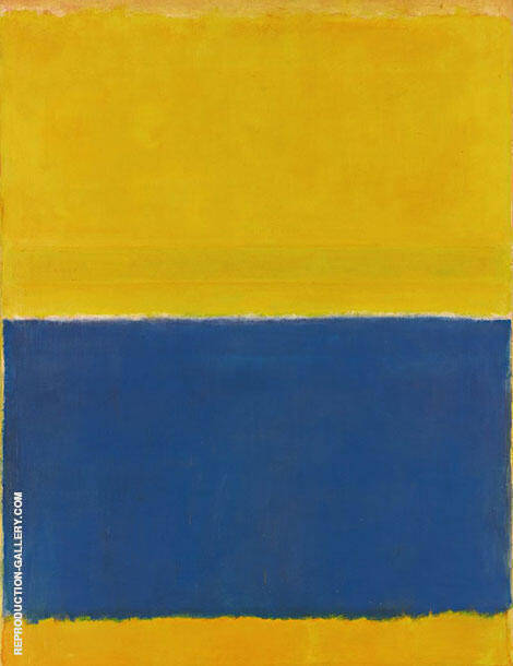 Untitled Yellow and Blue 1954 By Mark Rothko