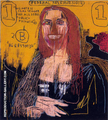 Mona Lisa Painting By Jean-Michel-Basquiat - Reproduction Gallery