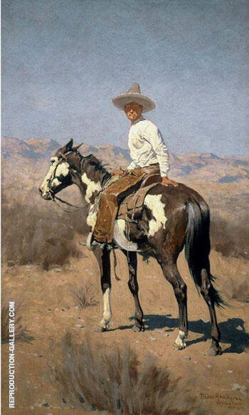 Vaquero 1890 Painting By Frederic Remington - Reproduction Gallery