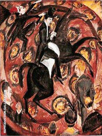 Circus Rider 1914 By Ernst Kirchner