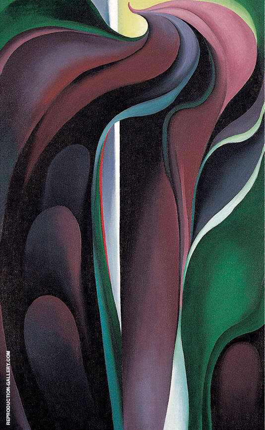 Reproduction of Jack In the Pulpit Abstraction No 5 by Georgia O'Keeffe | Oil Painting Replica On CanvasReproduction Gallery
