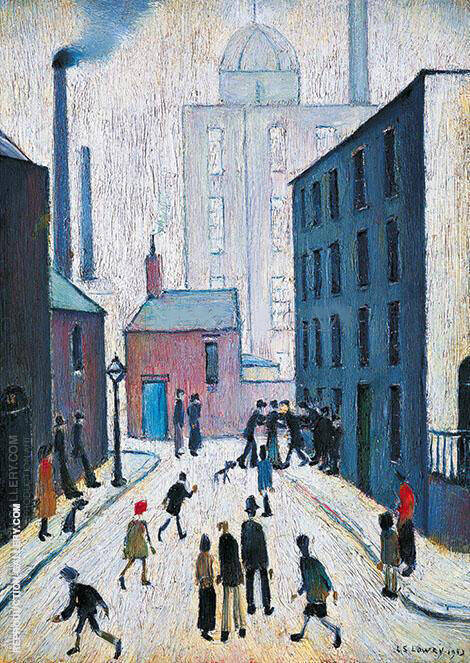 Industrial Scene 1953 Painting By L-S-Lowry - Reproduction Gallery