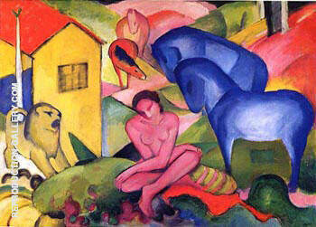 The Dream Painting By Franz Marc - Reproduction Gallery