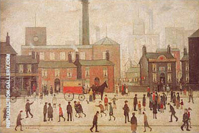 Coming Home from the Mill 1928 By L-S-Lowry - Oil Paintings & Art Reproductions - Reproduction Gallery