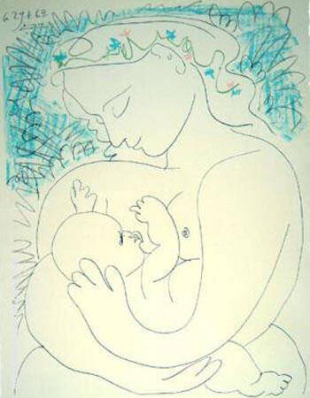 Motherhood Painting By Pablo Picasso - Reproduction Gallery