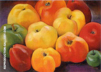 Apple Family 1 1920 By Georgia O'Keeffe - Oil Paintings & Art Reproductions - Reproduction Gallery