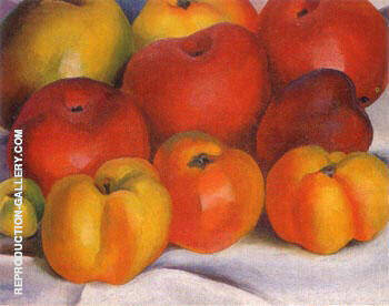 Apple Family -2 1920 Painting By Georgia O'Keeffe - Reproduction Gallery