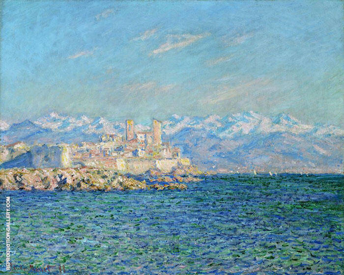 Old Fort Antibes 1888 Painting By Claude Monet - Reproduction Gallery