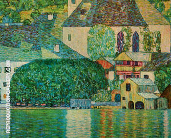 The Church of St Wolfgang By Gustav Klimt - Oil Paintings & Art Reproductions - Reproduction Gallery