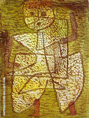Reproduction of The Future Man by Paul Klee | Oil Painting Replica On CanvasReproduction Gallery