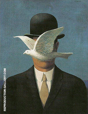 The Man in the Bowler Hat 1965 By Rene Magritte - Oil Paintings & Art Reproductions - Reproduction Gallery