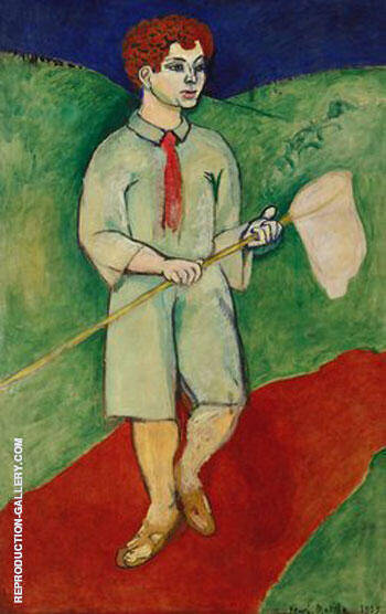 Boy with Butterfly Net 1907 Painting By Henri Matisse