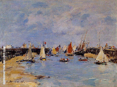 The Jetty at Low Tide 1893 Painting By Eugene Boudin