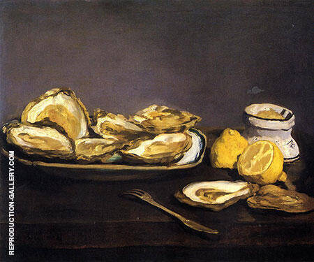 Reproduction of Oysters 1862 by Edouard Manet | Oil Painting Replica On CanvasReproduction Gallery