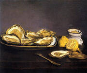 Oysters 1862 By Edouard Manet