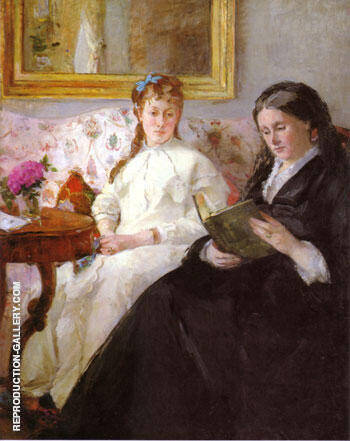 The Mother and Sister of the Artist 1869 By Berthe Morisot - Oil Paintings & Art Reproductions - Reproduction Gallery