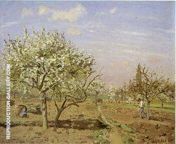 Orchard in Bloom Louveciennes By Camille Pissarro