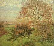 Autumn Morning at Eragny 1897 By Camille Pissarro