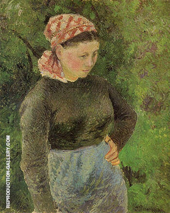 Peasant Woman 1880 Painting By Camille Pissarro - Reproduction Gallery